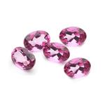 1.25 Ct 5x3mm AA Oval Loose Mystic Pink Topaz Matching 5 pcs Gemstones