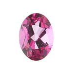 0.85-1.07 Cts of 7x5 mm AA Oval Loose Mystic Pink Topaz ( 1 pcs ) Gemstone