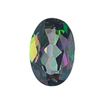 0.70-1.10 Cts of 7x5 mm AAA Oval Mystic Green Topaz ( 1 pc ) Loose Gemstone