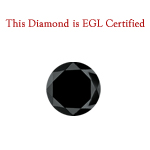 3.65 Cts of 9.09x7.90x5.47 mm EGL USA Certified AA Round Brilliant ( 1 pc ) Loose Treated Fancy Black Diamond