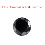 2.27 Cts of 7.87x7.73x5.47 mm EGL USA Certified AAA Round Brilliant ( 1 pc ) Loose Treated Fancy Black Diamond