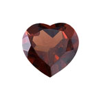1.65-2.25 Cts of 8 mm AAA Heart Garnet ( 1 pc ) Loose Gemstone