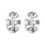 1.70 Cts 7x5 mm Oval AAA  White Sapphire 2 pcs Loose Gemstones