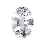 1.35 Cts 8x6 mm Oval AAA  White Sapphire Loose Gemstone