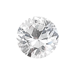 1.27 Cts 7 mm Round AAA  White Sapphire Loose Gemstone