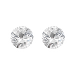 1.06 Cts 5 mm Round AAA  White Sapphire 2 pcs Loose Gemstone