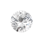 1.10 Cts 6.5 mm Round AAA  White Sapphire Loose Gemstone