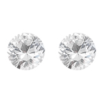 1.85 Cts 6 mm Round AAA  White Sapphire 2 pcs Loose Gemstone