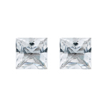 1.15 Cts 4.5 mm Princess AAA White Sapphire 2 pcs Loose Gemstone
