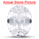 0.72 Cts of 7x5 mm AAA Oval White Sapphire ( 1 pc ) Loose Gemstone