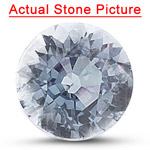 0.89 Cts of 6 mm AAA Round White Sapphire ( 1 pc ) Loose Gemstone