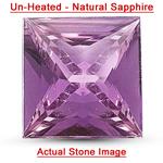 0.86 Cts of 5.70x5.70x2.80 mm AA Princess Unheated Natural Purple Sapphire ( 1 pc ) Loose Gemstone
