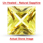 0.78 Cts of 5.1x5.0x3.1 mm Princess AAA Unheated Natural Yellow Sapphire ( 1 pc ) Loose Gemstone