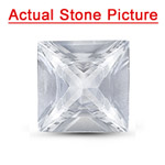 0.83 Cts of 5.10x5.10x3.00 mm AAA Princess Unheated Natural White Sapphire ( 1 pc ) Loose Gemstone