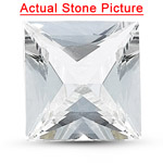 5.5x5.5x3.0 mm-0.91 Cts Loose Princess Unheated Natural White Sapphire -AA quality