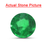 0.98 Cts of 6.80x6.80 mm AA Round Natural Emerald ( 1 pc ) Loose Gemstone