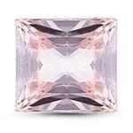 6.0x6.0x3.2 mm-1.17 Cts Loose Princess Pink Sapphire -AA quality