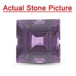 1.23 Cts AAA Square Step Cut Heated Purple Sapphire ( 1 pc ) Loose Gemstone