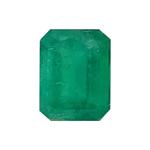 1.23 Cts of 7.40x5.70x4.10 mm AA Emerald-Cut Natural Emerald ( 1 pc ) Loose Gemstone