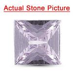 1.27 Cts AAA Square Modified Brilliant Natural Pinkish Purple Sapphire Corundum ( 1 pc ) Loose Gemstone