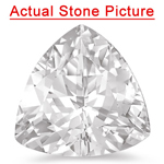 1.44 Cts of 7 mm AAA Trillion White Sapphire ( 1 pc ) Loose Gemstone