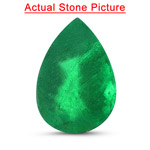 1.77 Cts of 10.11x7.00x4.70 mm AA Pear Natural Emerald ( 1 pc ) Loose Gemstone