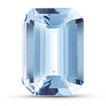 9.5x6.9x3.3 mm-2.11 Cts Loose emerald-cut White Sapphire -AA quality