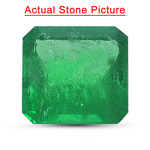 2.14 Cts of 8.50x8.20x4.30 mm AA Princess Natural Emerald ( 1 pc ) Loose Gemstone