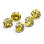 3.1 mm-0.62 Cts Loose Round Golden Yellow Diamonds-AA quality
