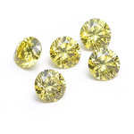 3.1 mm-0.62 Cts Loose Round Canary Yellow Diamonds-AA quality