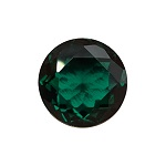 1.52-1.61 Cts of 8x8 mm AAA Round Russian Lab Created Emerald ( 1 pc ) Loose Gemstone