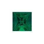 0.07-0.09 Cts of 2.50x2.50 mm AAA Princess Russian Lab Created Emerald ( 1 pc ) Loose Gemstone