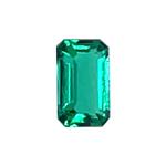 0.16-0.31 Cts of 5x3 mm AAA Emerald-Cut Russian Lab Created Emerald ( 1 pc ) Loose Gemstone