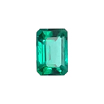 0.35-0.55 Cts of 6x4 mm AAA Emerald-Cut Russian Lab Created Emerald ( 1 pc ) Loose Gemstone