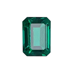 0.74-0.96 Cts of 7x5 mm AAA Emerald-Cut Russian Lab Created Emerald ( 1 pc ) Loose Gemstone