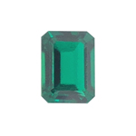 1.27-1.45 Cts of 8x6 mm AA Slightly included Emerald Russian Lab Created Emerald ( 1 pc ) Loose Gemstone
