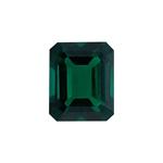 3.26-4.50 Cts of 11x9 mm AAA Emerald-Cut Russian Lab Created Emerald ( 1 pc ) Loose Gemstone