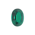 0.70-0.80 Cts of 7x5 mm AA Slightly included Oval Russian Lab Created Emerald ( 1 pc ) Loose Gemstone