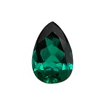 0.18-0.22 Cts of 6x4 mm AAA Pear Russian Lab Created Emerald ( 1 pc ) Loose Gemstone