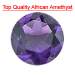 1.07-1.45 Cts of AAA 7 mm Round Loose Amethyst ( 1 pcs ) Gemstone