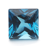0.53-0.79 Cts of AAA 5 mm Princess Loose London Blue Topaz ( 1 pc ) Gemstone