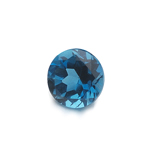 0.83-1.08 Ct of AAA 6 mm Round Loose London Blue Topaz ( 1 pc ) Gemstone
