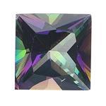 1.48-1.86 Cts of 6.5 mm AAA Princess Mystic Green Topaz ( 1 pc ) Loose Gemstone