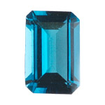 13.20-14.14 Cts of AAA 16x12 mm Emerald Loose London Blue Topaz ( 1 pcs ) Gemstone