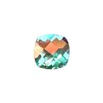 0.70-1.30 Ct of AAA 6 mm Cushion Checker Board Loose Mercury Mystic Topaz ( 1 pcs ) Gemstone