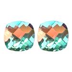 3.50-3.80 Cts of AAA 7 mm Cushion Checker Board Pair Matching Loose Mercury Mystic Topaz ( 2 pcs set ) Gemstones