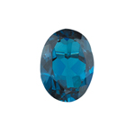 5.15-6.54 Cts of AAA 12x10 mm Oval Loose London Blue Topaz ( 1 pcs ) Gemstone