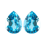 6x4 mm-0.80-0.87 Cts Loose Swiss Blue Topaz ( Pear AA )