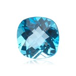 1.55-2.12 Cts of 7 mm AAA Cushion Checker Board Swiss Blue Topaz ( 1 pc ) Loose Gemstone
