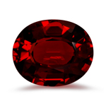 1.11-1.75 Cts of 8x6 mm AAA Oval Step Cut Mozambique Garnet ( 1 pc ) Loose Gemstone